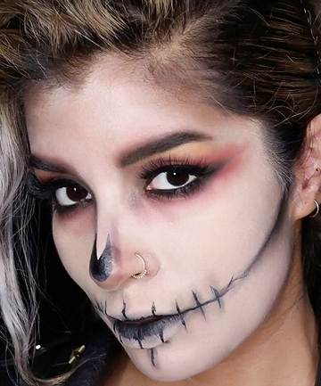 blackout skull halloween look from urban decay these