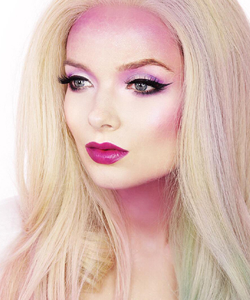 glam mermaid makeupmy pale skin these halloween