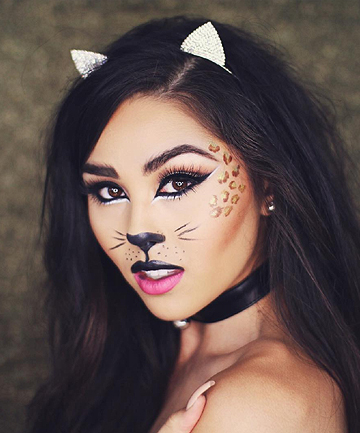 Halloween Cat Makeup by Roxette Arisa, These Halloween