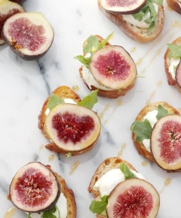 Whipped Ricotta and Fig Crostini