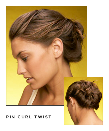 Easy Hairstyles for Long Hair: Pin Curl Twist