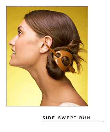 Easy Hairstyles for Long Hair: Side-Swept Bun