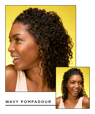 Easy Hairstyles for Long Hair: Wavy Pompadour