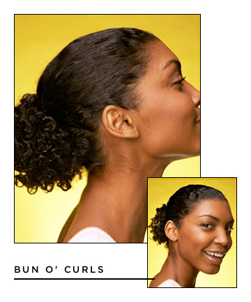 Easy Hairstyles for Short Hair: Bun o' Curls