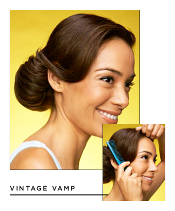 Easy Hairstyles for Long Hair: Vintage Vamp