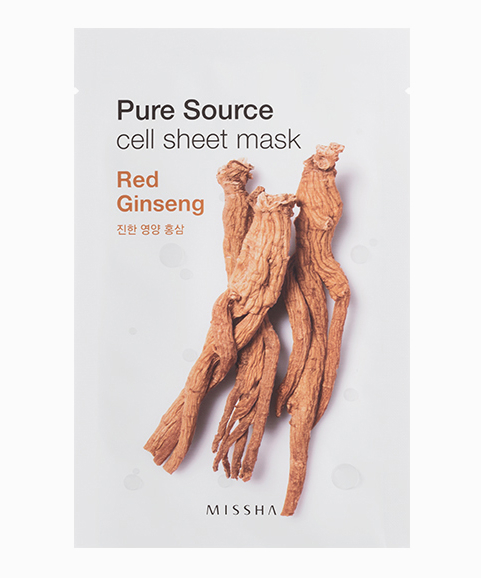 Missha Pure Source Cell Sheet Mask Red Ginseng, $2, Who Knew