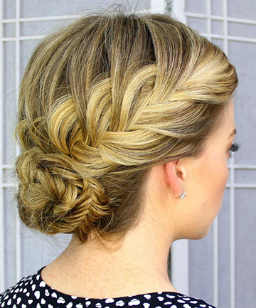 Fishtail French Braid Updo
