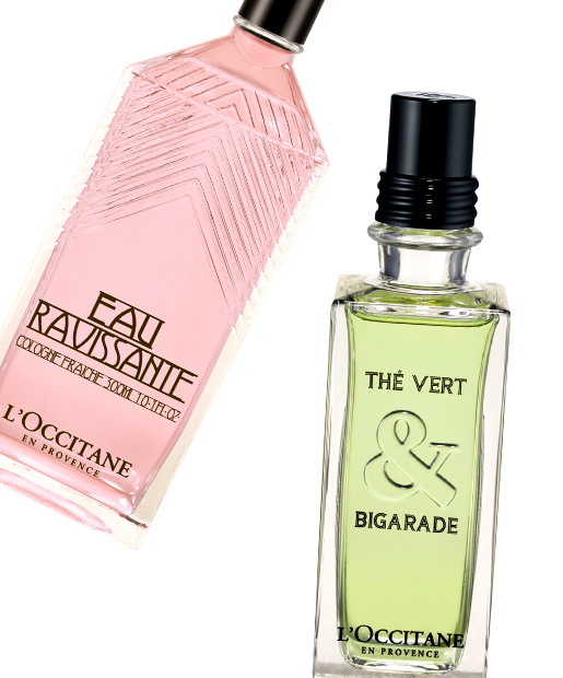 L'Occitane Eau Ravissante, $52, and The Vert & Bigarade Eau de Toilette, $75