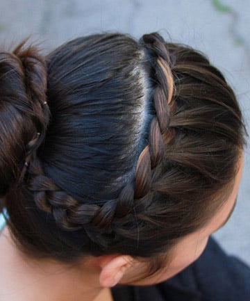 Easy French Braid Bun , 25 Pretty French Braid Hairstyles to DIY ...