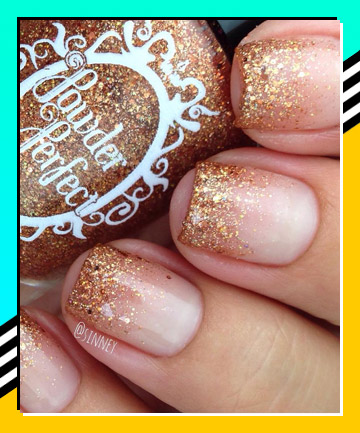 Glitter Tips 21 Nail Designs That Make The French Manicure Cool