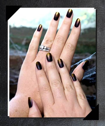 Black and Gold Ombré