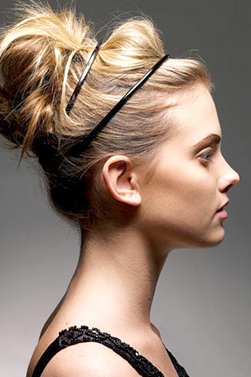 Wear two headbands with an updo