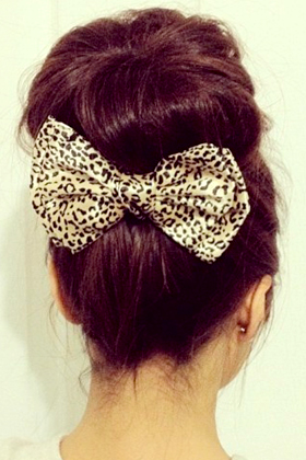 Accent the back of your hair with a bow pin