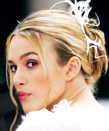 Festive Updo: Keira Knightley in 'Love Actually'