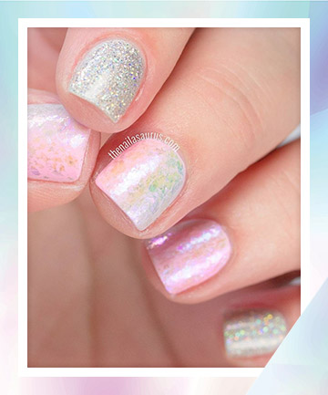 Opalescent Mermaid Nails