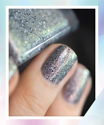 Silver Chrome With Chunky Glitter