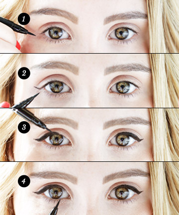 Liquid eyeliner tip no 4 learn this symmetry trick