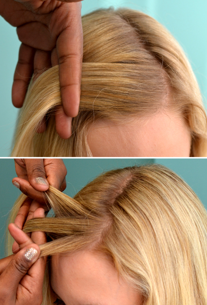 How To Do A Waterfall Braid Start At The Top
