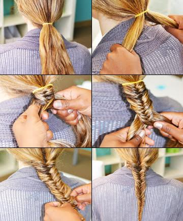 fishtail braid how to do a fishtail braid our easy step by step rh totalbeauty com fishtail braid steps for short hair fishtail braid steps youtube