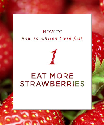 How to Whiten Teeth Fast: Eat More Strawberries