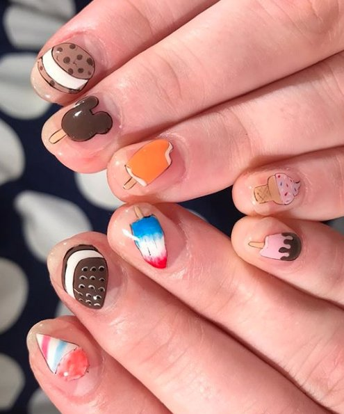 21 Ice Cream Nail Art Designs You Ll Want To Rock Page 2