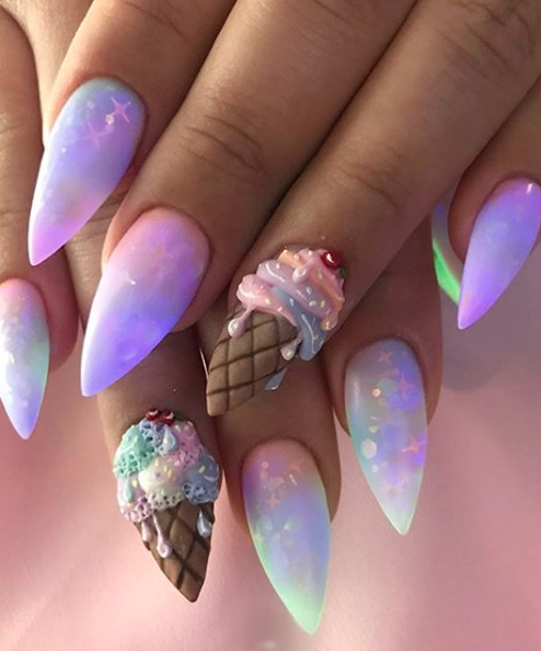 Treat Yo Self To These Talons These Ice Cream Nail Designs Are The