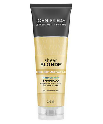 Best Color Protecting Shampoo No. 9: John Frieda Sheer Blonde Highlight Activating Moisturizing Shampoo, $8.49