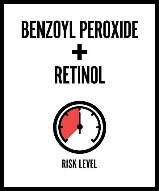 Benzoyl Peroxide + Retinol = Peeling, Flaking Skin