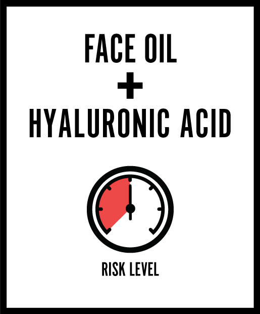 Face Oil + Hyaluronic Acid = Anti-Aging Bust