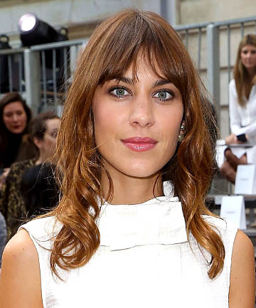 Alexa Chung's Low Key Parted Bangs