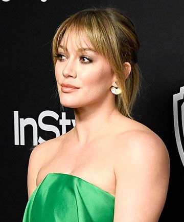 Hilary Duff's Piecey Bangs and Straight Blonde Hair