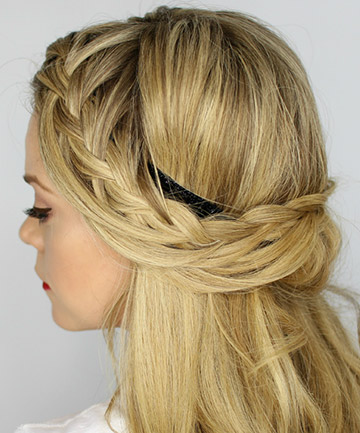Tuck and Cover Half Looped French Braid