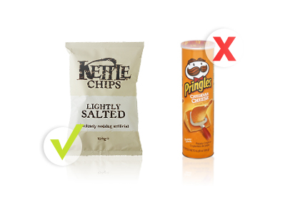 Rule No. 6: Choose Baked Kettle Chips instead of Pringles