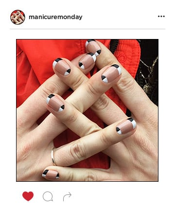 Mani of the Week: Graphic Black and White Nails
