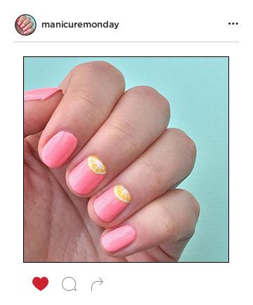 Mani of the Week: Pink Lemonade Nails