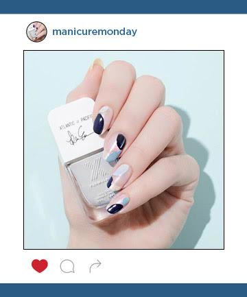 Mani of the Week: A Moody Blue Fall Nail Design
