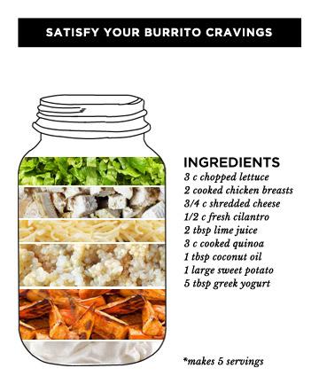 Burrito Mason Jar Salad
