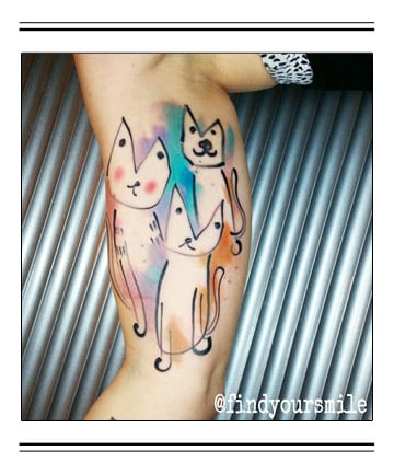 cartoon cuties 30 classy first tattoo ideas for women over 40 page 25. Black Bedroom Furniture Sets. Home Design Ideas