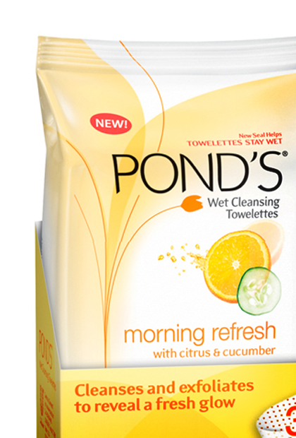 Pond's Morning Refresh Wet Cleansing Towelettes, $6