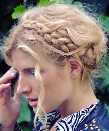 Crown Braids + Tiny Braids
