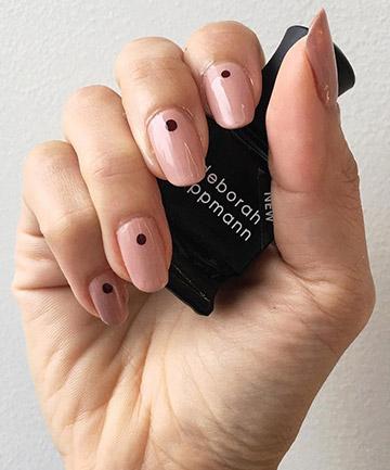 Minimalist Nails: Little Black Dot