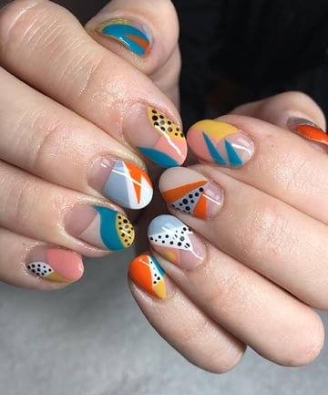 Abstract Nail Art Step By Step
