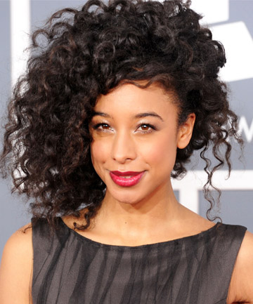 Corinne Bailey Rae's Side-Swept Natural Hairstyle
