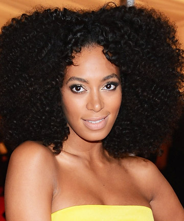 Solange Knowles' Center Part Natural Hair