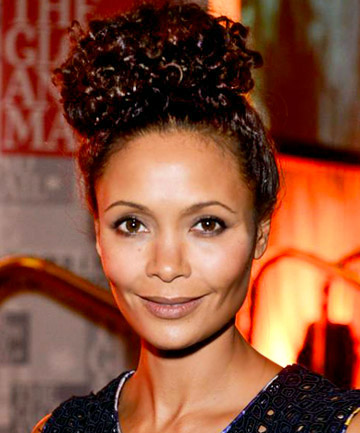 Thandie Newton's Natural Hairstyle Top Knot