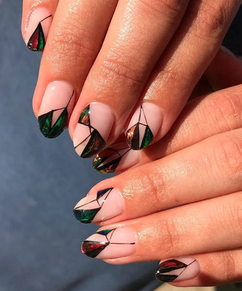 Stained Glass 23 Negative Space Nail Art Designs That Will Up Your