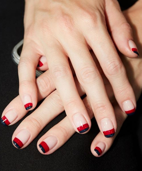Nautical Stripes 23 Negative Space Nail Art Designs That Will Up