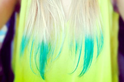 Dip-dye the tips, How to Wear Neon Hair After 30 - (Page 4)
