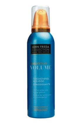 No 2: John Frieda Luxurious Volume Thickening Hair Mousse, $5.99