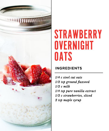 Strawberry Overnight Oats Recipe , How to Make Overnight ...